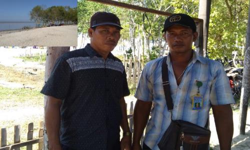 Kepala Desa Guntung Bersama Tokoh Pemuda Desa Guntung. Inset Lokasi Wisata.