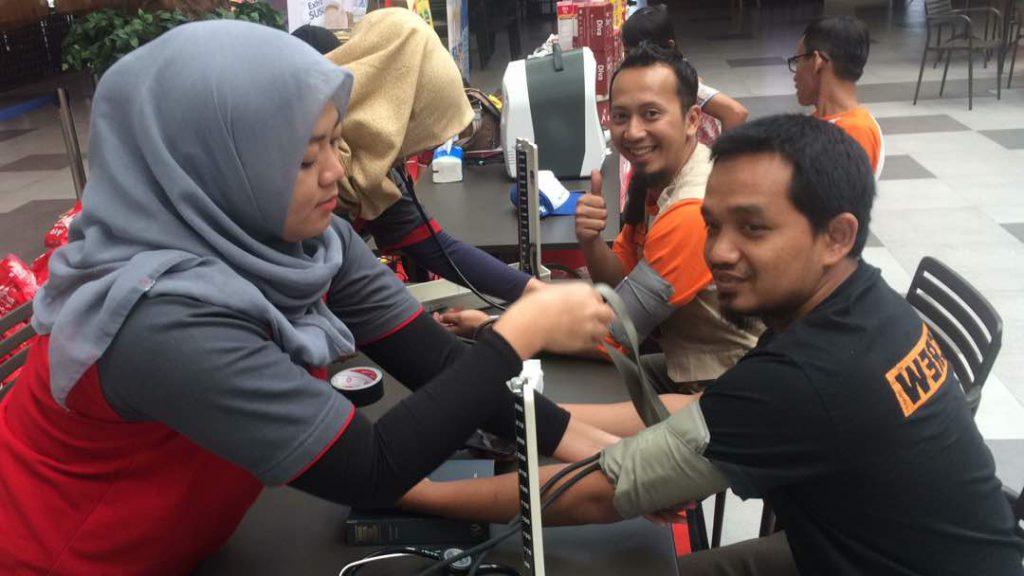 Kegiatan Cek Kesehatan Gratis Mudik Bareng Lintas Komunitas (MBLK)
