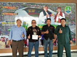 Tim FKOB yang berkunjung ke dinas tenaga kerja bekasi.