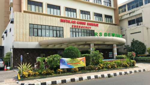Tampak Depan Rumah Sakit Dewi Sri Karawang