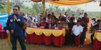 Sambutan kades cup 2017 oleh kepala desa dayeuh Jamali Jb.SE