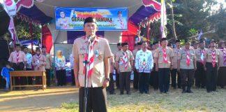 Acara Pembukaan Gema Pramuka Yang Dibuka Oleh Kepala UPTD Pendidikan Kecamatan Cisalak Subang
