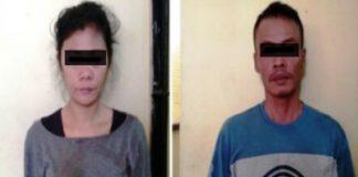 Kedua Pelaku Rafiqah dan Romiadi yang diamankan Polisi.