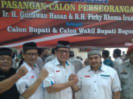 Pendukung Ir Gunawan Hasan dan R.H Ficky Rhoma Irama