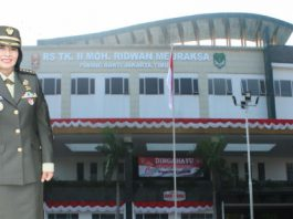 Kepala Rumah Sakit TK II Moh Ridwan Meuraksa Kolonel CKM (K) dr. Dian Andriani R Sp.KK, M.Biomed, MARS, FINSDV