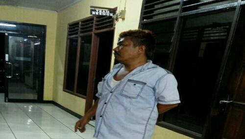 Foto : Satu Orang di amankan ke polsek Cileungsi Dari Lokasi penggerekan berinisial MP