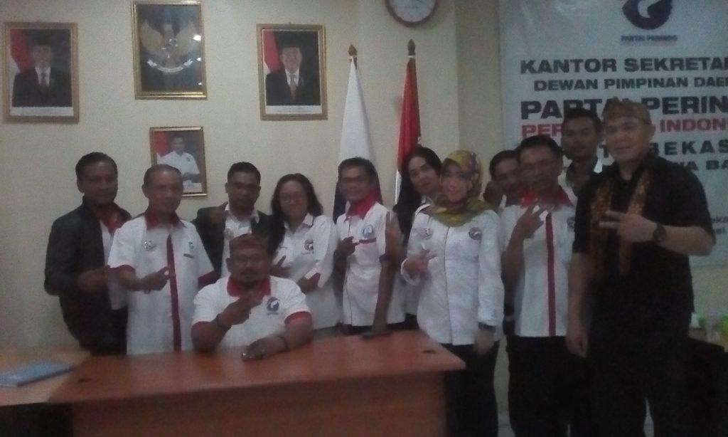 Ketua Partai Perindo Kota Bekasi H Muhammad Gunawan beserta seluruh sayap Partai