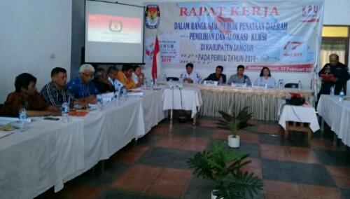 Foto: Suasana uji publik dapil oleh KPU kabupaten Samosir