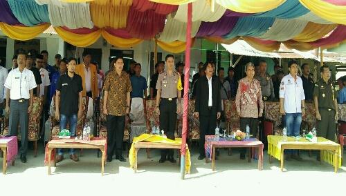 Foto : Para FKPD kabupaten Samosir, di deklarasi Tolak dan Lawan Politik Uang serta SARA Pilkada 2018
