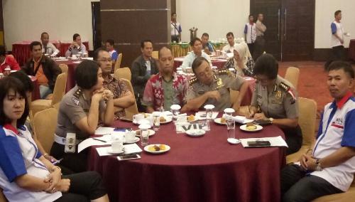 Foto: Perwakilan Dari Poldasu, bersama Ketua dan pengurus JOIN Sumut, diacara pelatihan jurnalis oleh DPW JOIN Sumut.