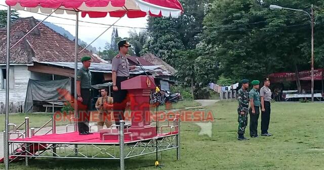 Foto : Kapolres Samosir, AKBP Agus Darojat S.Ik SH, Itu Apel Gelar Pasukan Pengamanan Kunjungan Ibu Hajjah Joko Widodo di Kabupaten Samosir