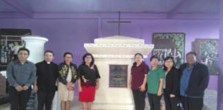 Ketua BPMW Langowan Satu Pdt. Reflin Watuseke STh (rok merah) bersama Pendeta-Pendeta di Wilayah Langowan I
