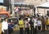 Peresmian oleh Bupati Minsel Tetty Paruntu dan Ketua MP GPdI Pdt. Johnny Weol memukul tetengkoren