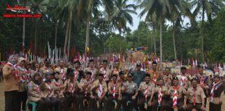 Kwartir Ranting (Kwarran) Kecamatan Carita Gelar Upacara HUT Pramuka