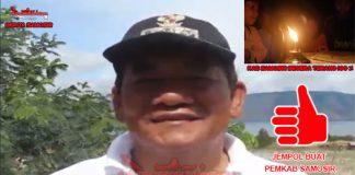 Bupati Samosir, Drs.Rapidin Simbolon MM . Inset Dusun III Desa Hutanamora saat ini belum teraliri listrik, sekira 2 km jarak tempuh dari dusun tersebut ke kantor Bupati Samosir.