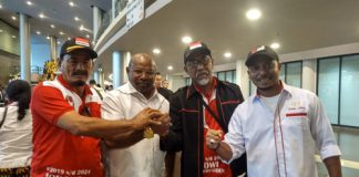 Bupati Merauke Fredy Gebze & Ketua Sedulur Papua, Andreas Parapaga
