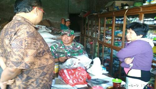 Ket foto :Toko pengencer pupuk Urea Subsidi yang tidak resmi