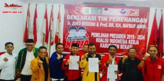 deklarasikan Koalisi Indonesia Kerja Kabupaten Bekasi untuk memenangkan Jokowi-KH.Ma'ruf Amin