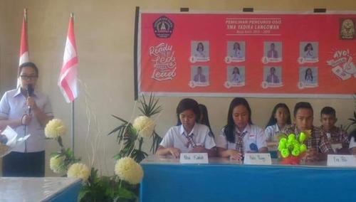 Sambutan Kepala Sekolah sebelum pemilihan dimulai
