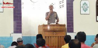 Kapolres Samosir Sebagai Khotib Dan Imam Sholat Jum'at Berkah Di Masjid AL Hasanah Pangururan