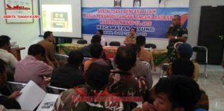 Badan Penanggulangan Bencana Alam (BPBD) Karo Gelar sosialisasi di Kecamatan Payung