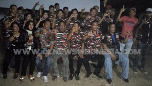 Foto Bersama anggota Laskar Merah Putih LMP,MAC Cileungsi dan Ranting Cileungsi Kidul dalam Acara Nobar G30S/PKI