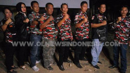 Jajaran pengurus inti  Laskar Merah Putih (LMP) MAC, Cileungsi Kabupaten Bogor