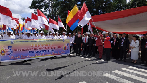 Start Diawali Iringan Bendera Merah Putih