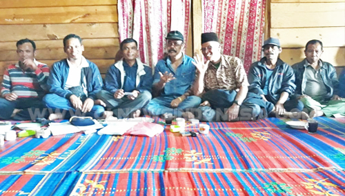 Dukungan Doa Arisan PPTSB sektor Desa Sijambur kecamatan Ronggur Nihuta, Kepada Beresman Sinaga pada pileg 2019, sabtu(6/10)