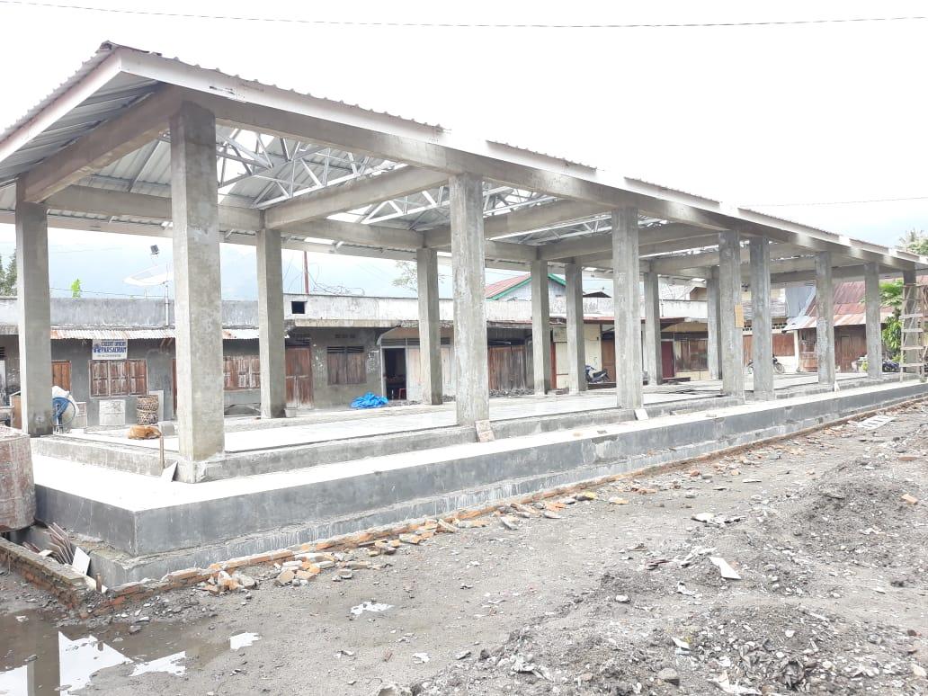 Foto : Pasar Tradisonal Sihotang, Satu dari tujuh pasar tradisional yang sedang dalam tahap pembangunan di tahun 2018,