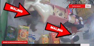 Maling Sembako Tertangkap CCTV Ketika Bereaksi Di Toko Sembako UD HBS, Tambun, Bekasi
