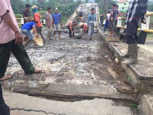 Perbaikan Jembatan Cipamingkis Jonggol