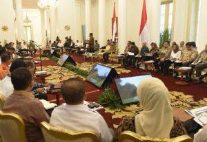 Suasana Sidang Kabinet Paripurna di Istana Kepresidenan, Bogor, Jawa Barat, Senin (29/5) sore. (Foto: Setkab/Rahmat)
