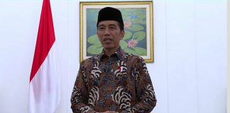 Presiden Jokowi saat menyampaikan ucapan selamat berpuasa, Jumat (26/5)