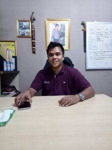 Iptu Ahmad Tri Lesmana,SH sAat di Wawancarai Redaksi OLNEWS INDONESIA