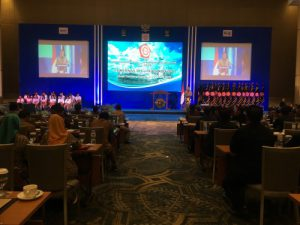Direktur Jenderal Bina Konstruksi, Yusid Toyib saat membuka kegiatan Musyawarah Kerja Nasional (Mukernas) III Gabungan Perusahaan Konstruksi Nasional Indonesia (GAPEKSINDO) di Yogyakarta, Senin (8/5)