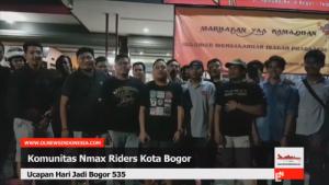 Ucapan HJB 535 Dari NMAX Kota Bogor