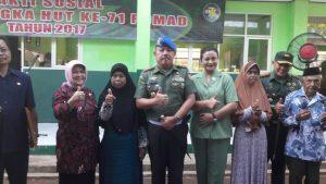 Foto Bersama Bupati Bogor Dan Danpuspomad Dedi Iswanto Beserta Istri Dandim Dengan Penerima Sembako