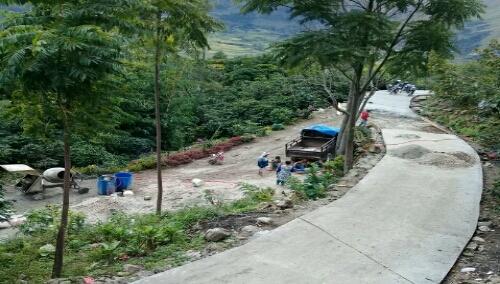 Foto: Pembangunan Infrastruktur menuju situs budaya Perkampungan Tatea Bulan yang berbasis Geopark
