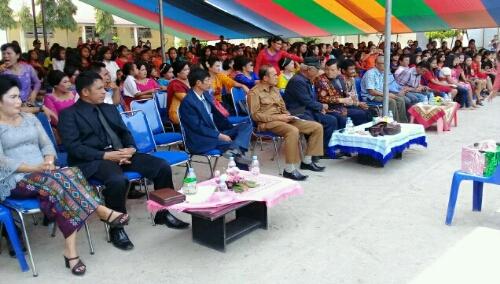 Foto: Para undangan yang ikut menghadiri syukuran Natal dan Tahun Baru SMP Negeri 02 Pangururan Samosir