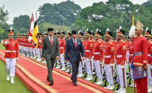 Presiden Joko Widodo & H.M. Sultan Haji Hassanal Bolkiah