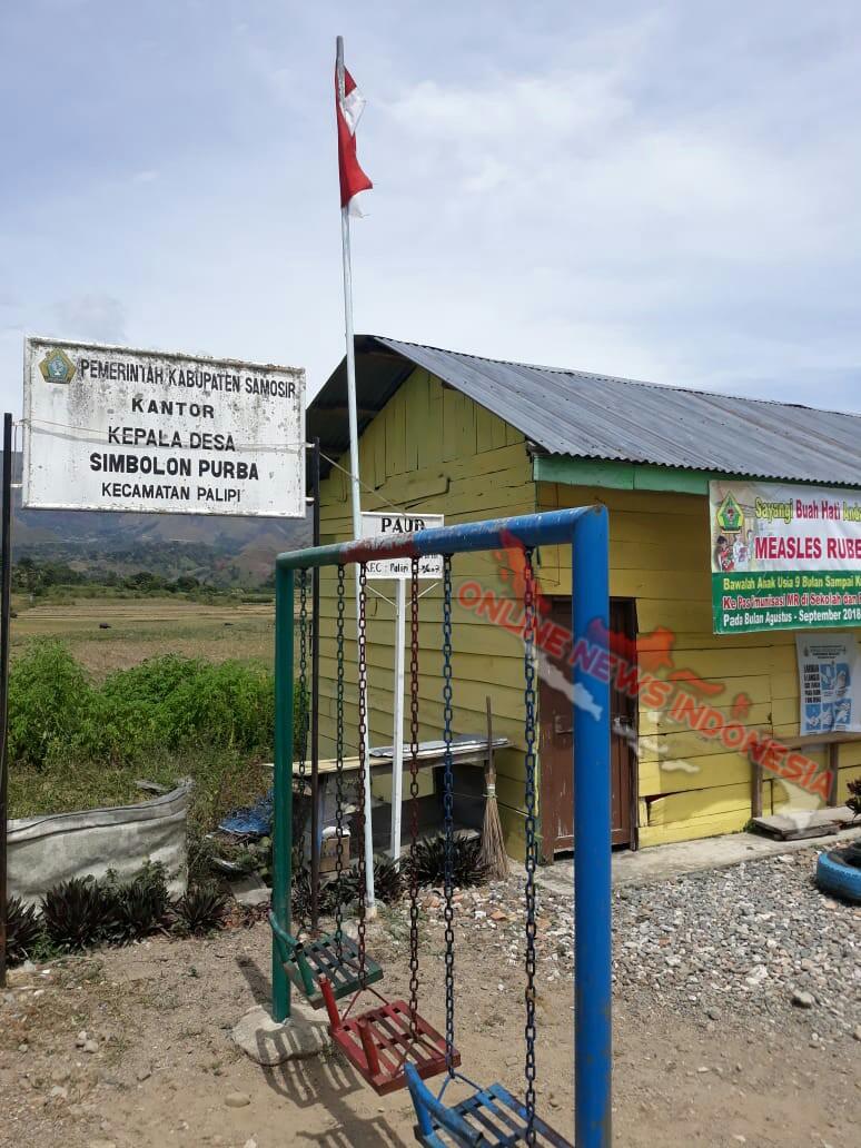 Foto : Kantor Kepala Desa Simbolon Purba, Kecamatan Palipi Kabupaten Samosir Sumatera Utara,
