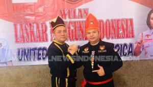 Tonaas Wangko LMI Pdt. Hanny Pantouw STh (kiri) dan Tonaas LMI USA Nico Turangan, saat pelantikan pengurus LMI USA.