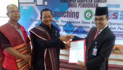 Dinas Pendidikan Kabupaten Samosir Launching Penerapan e-BOS