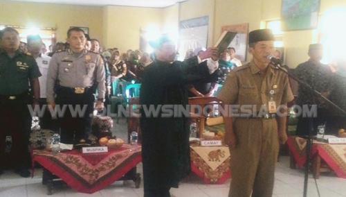 Pengambilan Sumpah Jabatan Pjs Wawan Gunawan S.IP. sebagai Kepala Desa Darmaga