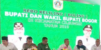 Bupati Bogor Hj Ade Yasin Melakukan Kunjungan Rebo Keliling Di Cileungsi, Rabu (23/1)