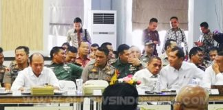 Bupati Karo Bersama Kapolres, Dandim 0205 Tanah Karo saat mengikuti rapat Kordinasi terkait jelang Pemilu Tahun 2019 di Kantor Gubsu Jalan Diponegoro Medan