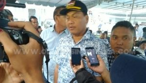 Ketua KPU Kabupaten Karo Gemar Tarigan saat di wawancarai oleh awak media di lokasi, Selasa (19/03) 2019