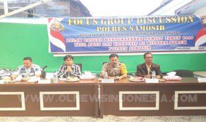 Polres Samosir Gelar Focus Group Discussion Bersama Kompenen Bangsa
