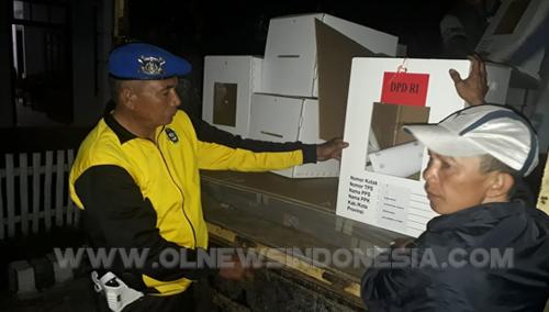 Ipda D.Singal saat pengamanan di Kecamatan Langowan Barat